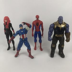 Lot of 4 Marvel Avengers 12 Inch Action Figures Talking Captain America, Titan Spider-Man & Black Widow, Thanos for Sale in Alafaya, FL