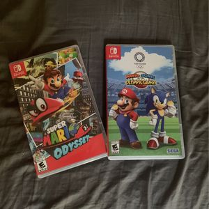 2 Nintendo switch games (Super Mario odyssey And Mario Vs. Sonic Olympics) for Sale in Miami, FL