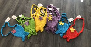 Hand-crocheted mermaid tail purse for Sale in Atascocita, TX