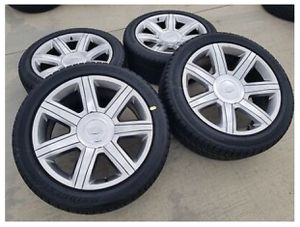 "22"" Cadillac Escalade OEM chrome wheels rims tires 4739 2015 2016 2017 2018 2019 for Sale in Tustin, CA"