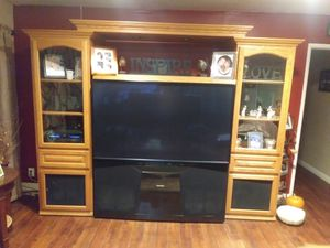 HDTV and Entertainment Center for Sale in Buena Park, CA