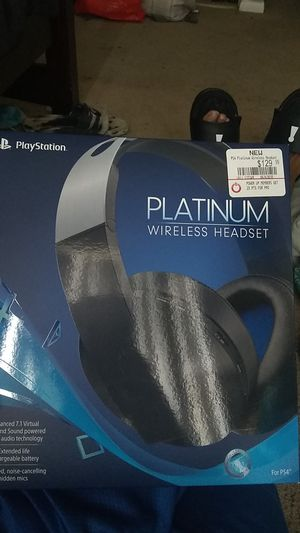 Platinum wireless headset ps4 for Sale in Houston, TX
