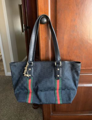 Gucci black and red leather tote bag for Sale in San Diego, CA