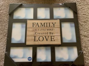 Wall hanging family photo photo frame. for Sale in St. Louis, MO