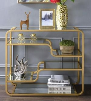 Mirrored gold finish sofa table for Sale in Fullerton, CA