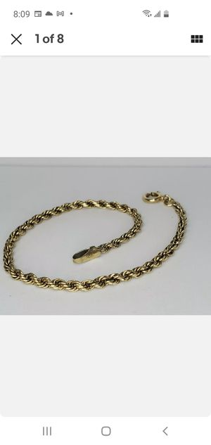 Solid 10k Gold Bracelet for Sale in Hallandale Beach, FL