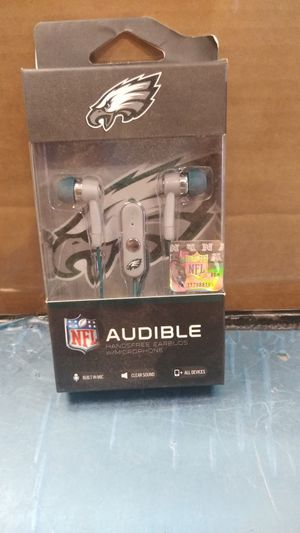 NFL audible hands-free earbuds with microphone for Sale in Philadelphia, PA