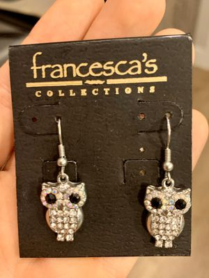 $5 Francesca's Collection | Diamond Owl Earrings for Sale in Austin, TX