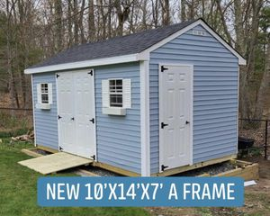 New 10' x 14' x 7' Blue Vinyl A Frame Shed for Sale in Lynnfield, MA