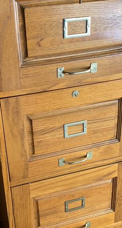 Vintage / Antique - Solid Wood File Cabinet for Sale in Los Angeles,  CA