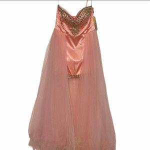 NWT Riva designs formal mini dress with train pink 14 for Sale in Oklahoma City, OK