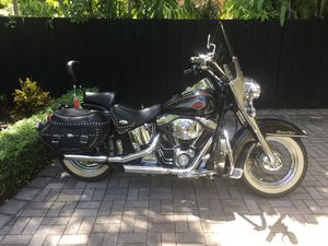 2001 Harley Davidson Heritage Classic. 15,660 miles. Pristine condition with cover, Jacket and two helmets. $7,500. for Sale in Coral Gables, FL