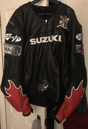 Suzuki motorcycles leather jacket for Sale in West Bridgewater, MA