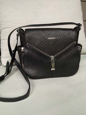 European boutique Diesel black leather purse with pockets for Sale in Edgewood, WA
