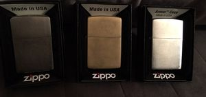 3 Zippo lighters pick up today! for Sale in Rancho Santa Margarita, CA