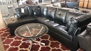Black leather sectional for Sale in Dallas, TX
