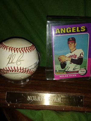 Nolan Ryan, ball and card signed for Sale in Mesa, AZ