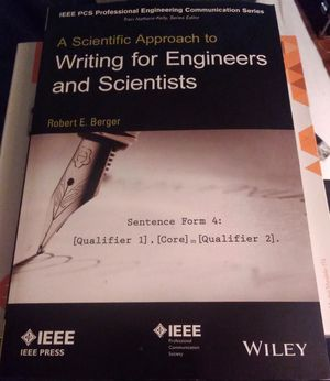 Writing For Engineers and Scientists by Robert E. Berger for Sale in Colorado Springs, CO