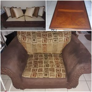 Tee sofa, chair and table for Sale in Macon, GA
