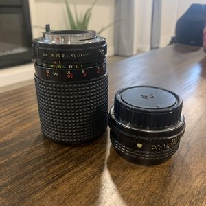2 Pentax 35mm film camera lenses for Sale in O'Fallon, IL