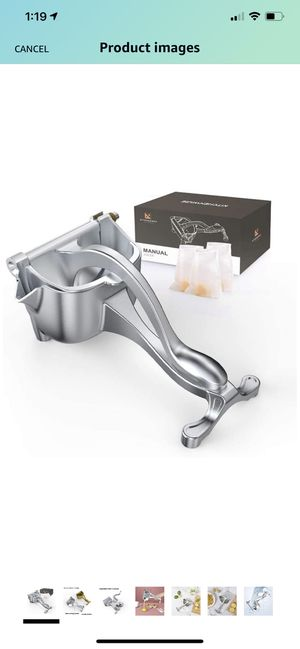 KITESSENSU Stainless Steel Fruit Juicer, Heavy Duty Manual Juice Squeezer for Citrus, Silver for Sale in Raleigh, NC