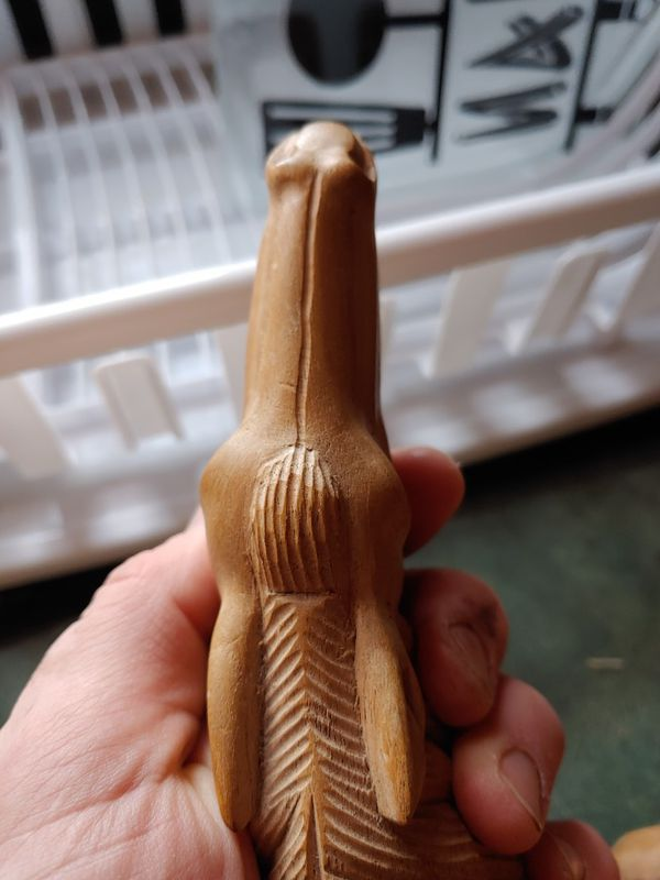 Hand carved wood horse head
