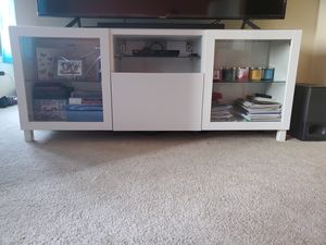 """IKEA Besta TV Stand White holds 75"""" TV for Sale in Wheaton, MD"""
