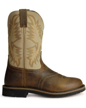 Justin Men's Stampede Steel toe Work Boots for Sale in North Royalton, OH