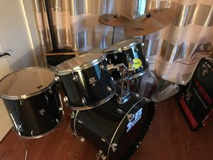 Drum set with mute zbt zildjian and cb drums for Sale in Pittsburgh, PA