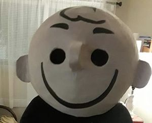 Halloween Costume Charlie brown Mask for Sale in Fort Myers, FL