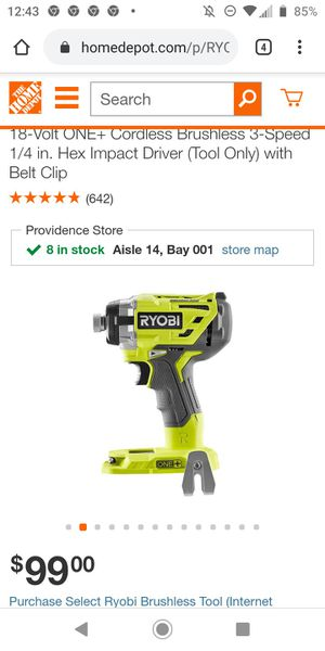 Impact Ryobi drill and 10 metal sawsaw blades for Sale in Providence, RI