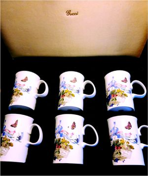 Set of six vintage Gucci bone china mugs for Sale in Takoma Park, MD
