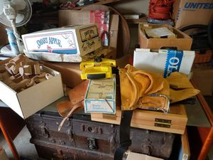 Tool belt, wooden toy parts, and misc workshop stuff for Sale in Tacoma, WA