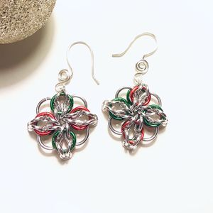 Chainmaille Star Christmas Earrings for Sale in Wolcott, CT