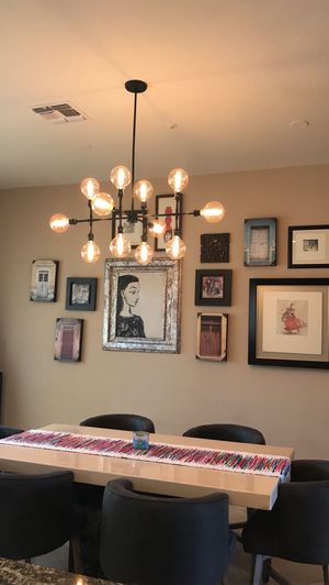 Contemporary 12 light chandelier for Sale in Scottsdale, AZ