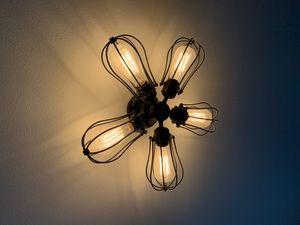 Edison Flushmount light chandelier for Sale in Renton, WA