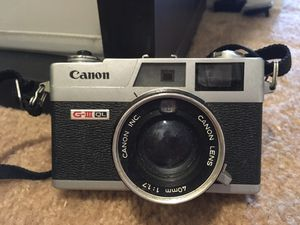Vintage cameras Canon g-III QL for Sale in Perris, CA