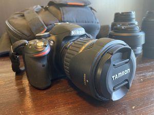 Nikon D3200 Camera w/ 4 lenses, camera bag & accessories for Sale in West Melbourne, FL