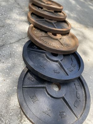 OLYMPIC WEIGHT PLATES. for Sale in Ellenton, FL