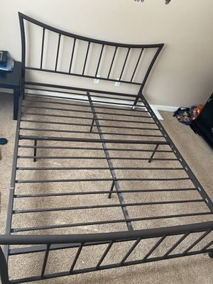 Queen Metal Bed Frame - Dark Brown for Sale in Mill Creek, WA
