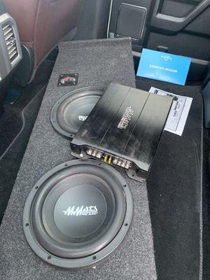 2 subs and 600watt amp for Sale in Phoenix, AZ
