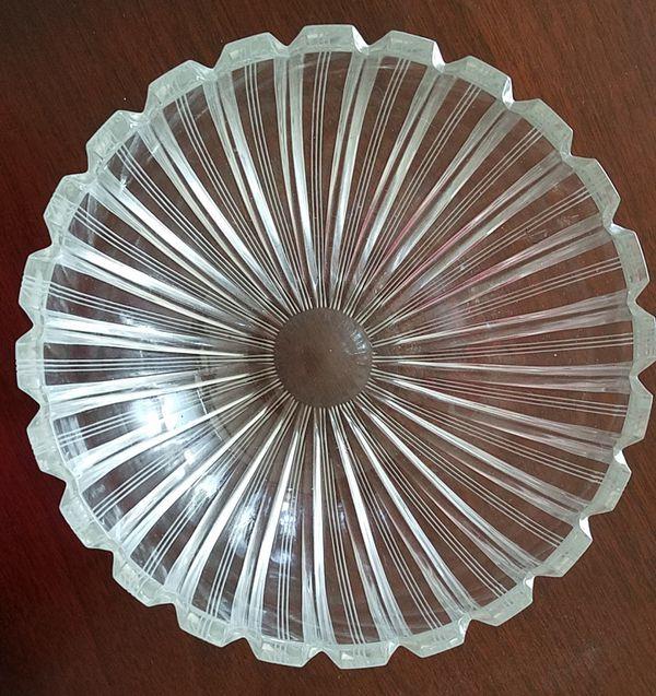 Tiffany etched bowl