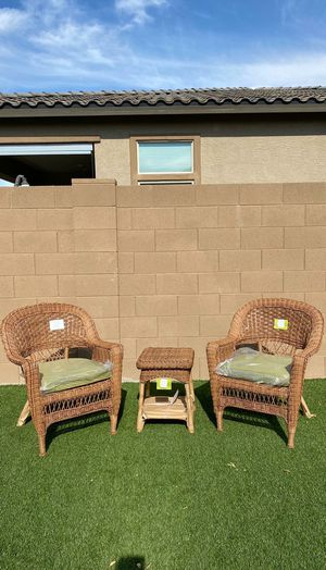 Jeco 3 Piece Outdoor Furniture Patio Set // Wicker Set with Cushions -- BRAND NEW IN BOX for Sale in Peoria, AZ