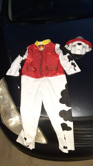 Marshall from Paw Patrol 2 piece costume size small fits 5-7 years in excellent condition for Sale in Rialto, CA