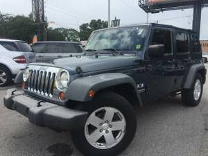 """JEEP WRANGLER UNLIMITED X """"1-OWNER/30 MIN APPROVAL""""$4999DOWN$325MONTH-$9999(7414 N FLORIDA AVE PLEASE ask for Toris luxury auto mall for Sale in Tampa, FL"""
