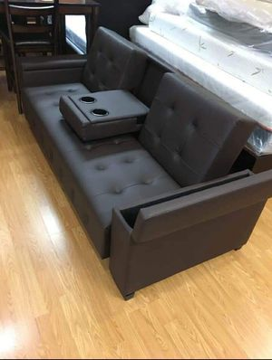 BRAND NEW FUTON FULL LEATHER SOFA for Sale in Chino Hills, CA