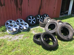 Rims and tires nice sets cheap price for Sale in Williamsport, PA