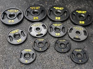 GOLDS GYM SET OF PLATES : (FOUR) 25s. / (FOUR) 10s. / ( FOUR) 5s for Sale in Coconut Creek, FL