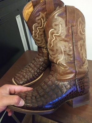 Leather cowboy square toe boots for Sale in Los Angeles, CA