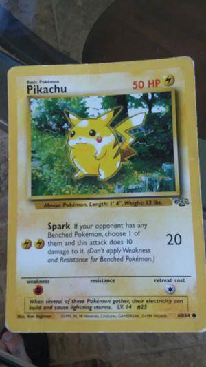 1995 Original pikachu pokemon card for Sale in Hillsborough, NC